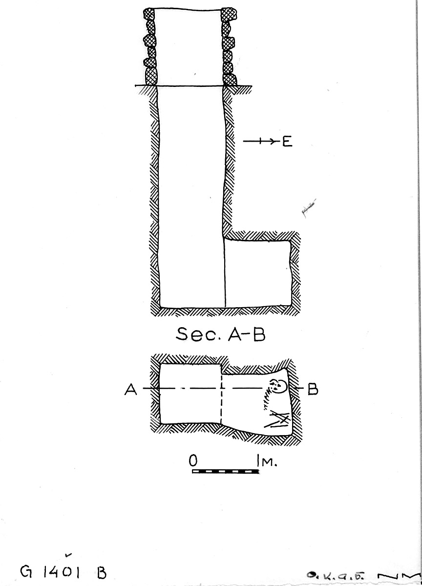 Maps and plans: G 1401, Shaft B