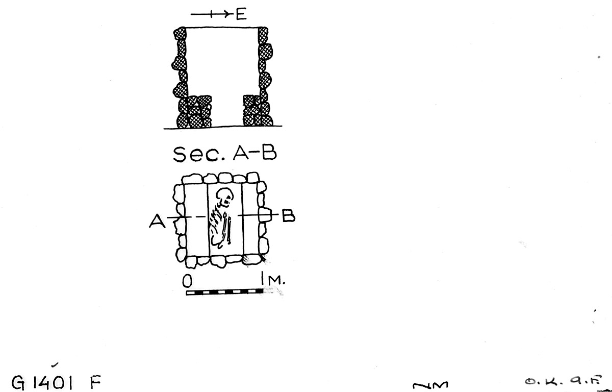 Maps and plans: G 1401, Shaft F