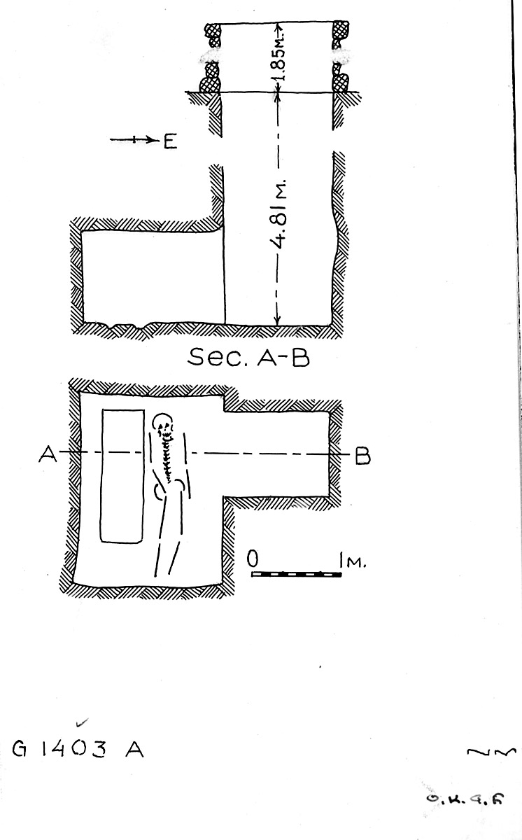 Maps and plans: G 1403, Shaft A