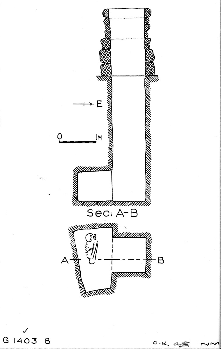 Maps and plans: G 1403, Shaft B