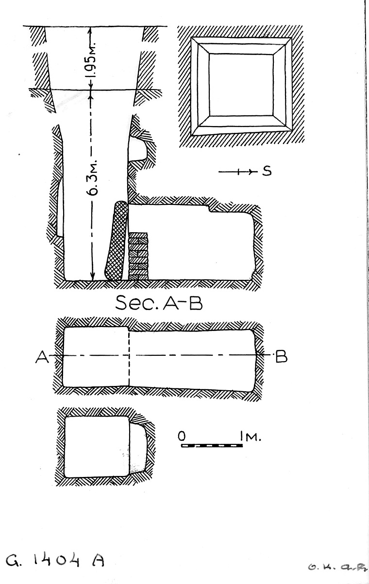Maps and plans: G 1404, Shaft A
