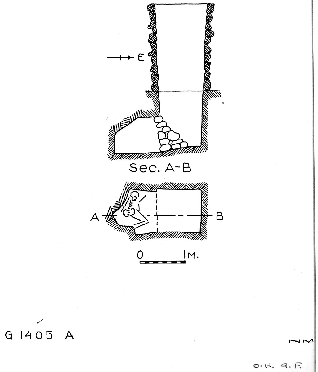 Maps and plans: G 1405, Shaft A
