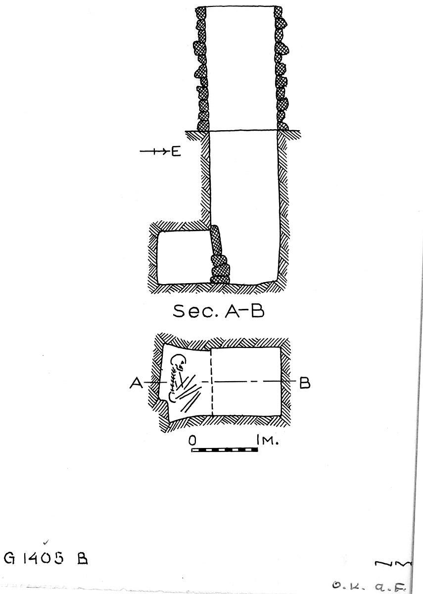 Maps and plans: G 1405, Shaft B