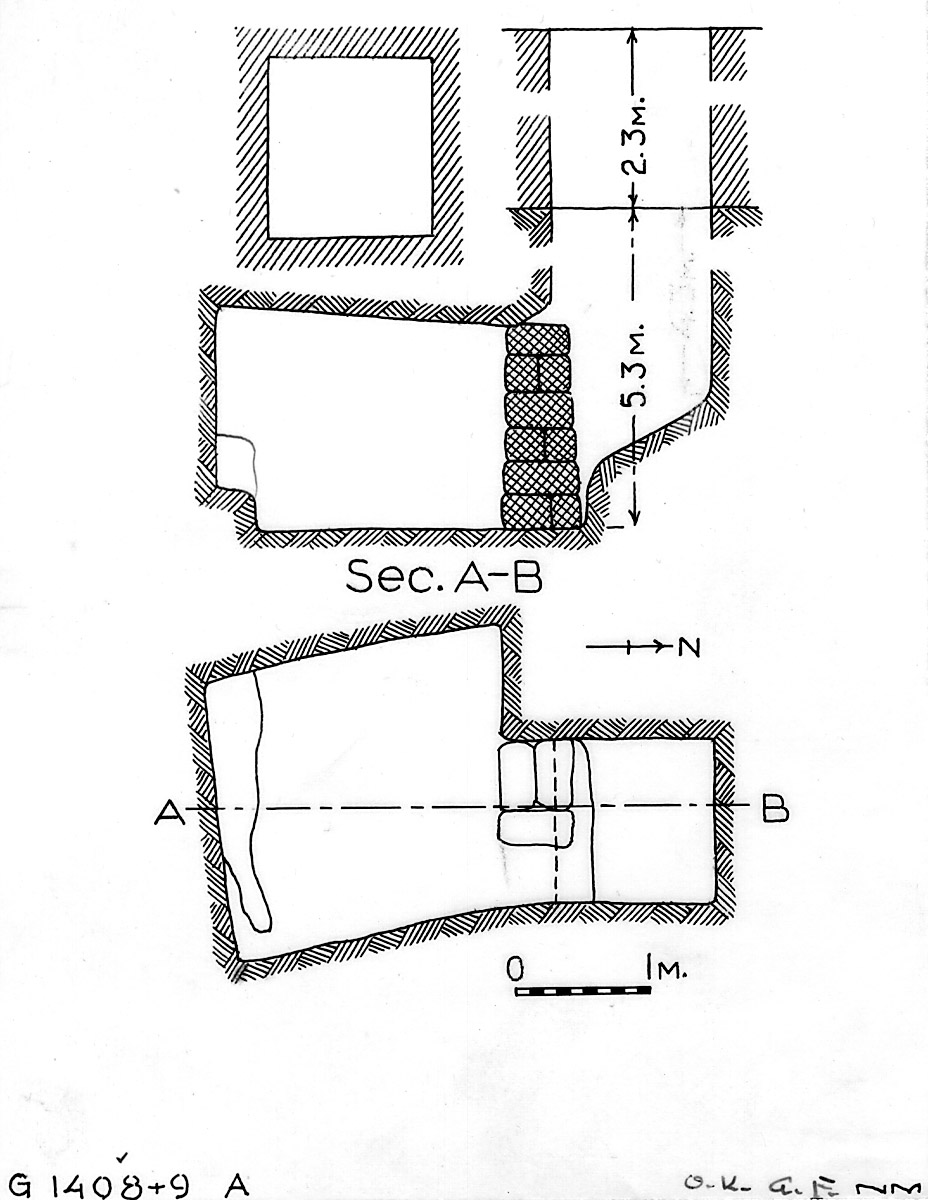 Maps and plans: G 1408+1409, Shaft A
