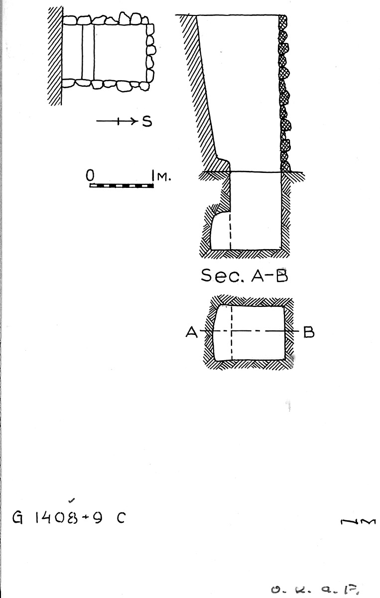 Maps and plans: G 1408+1409, Shaft C