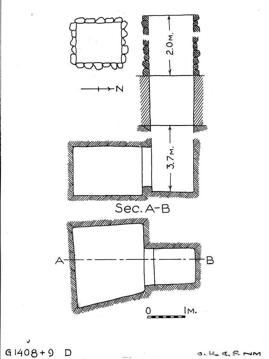 Maps and plans: G 1408+1409, Shaft D