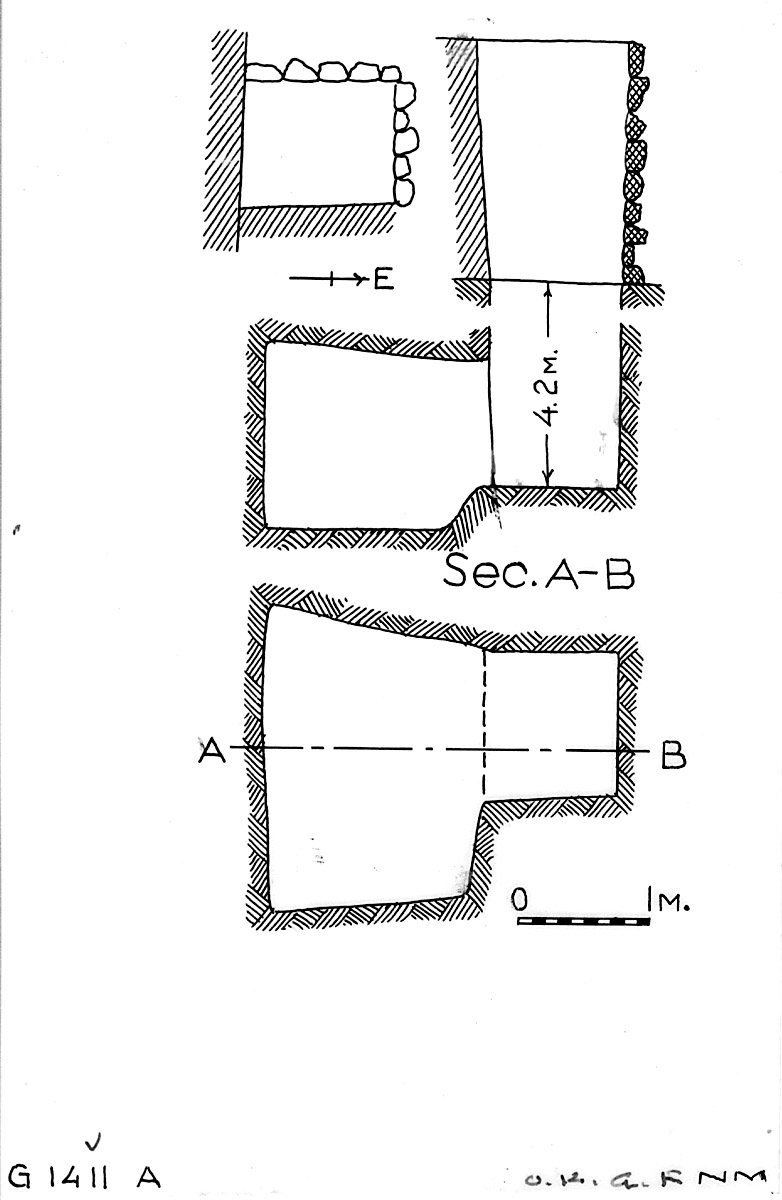 Maps and plans: G 1411, Shaft A