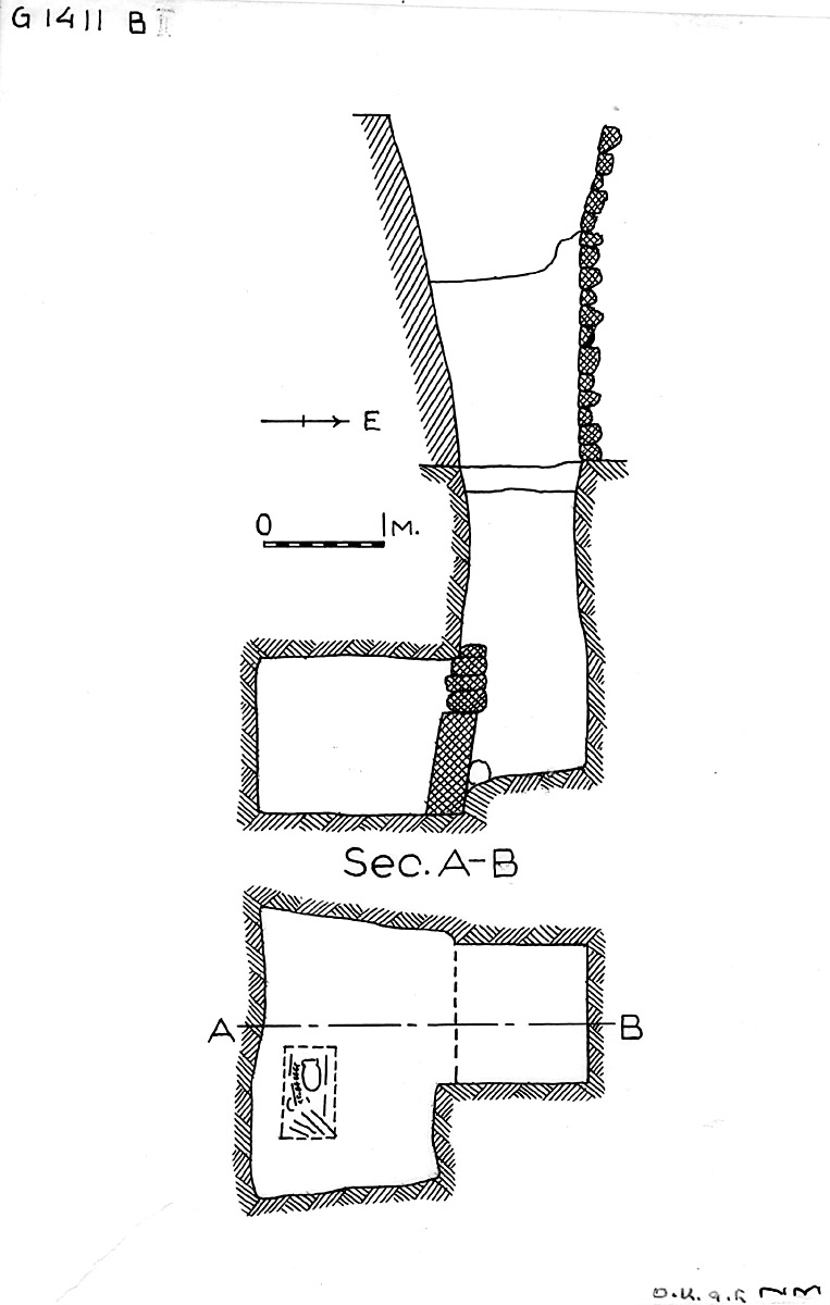 Maps and plans: G 1411, Shaft B