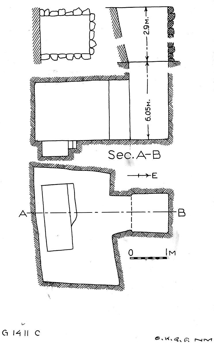 Maps and plans: G 1411, Shaft C