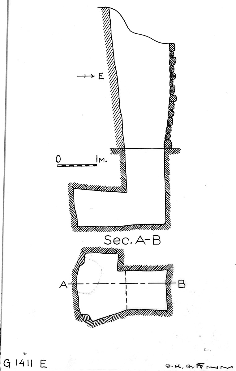 Maps and plans: G 1411, Shaft E