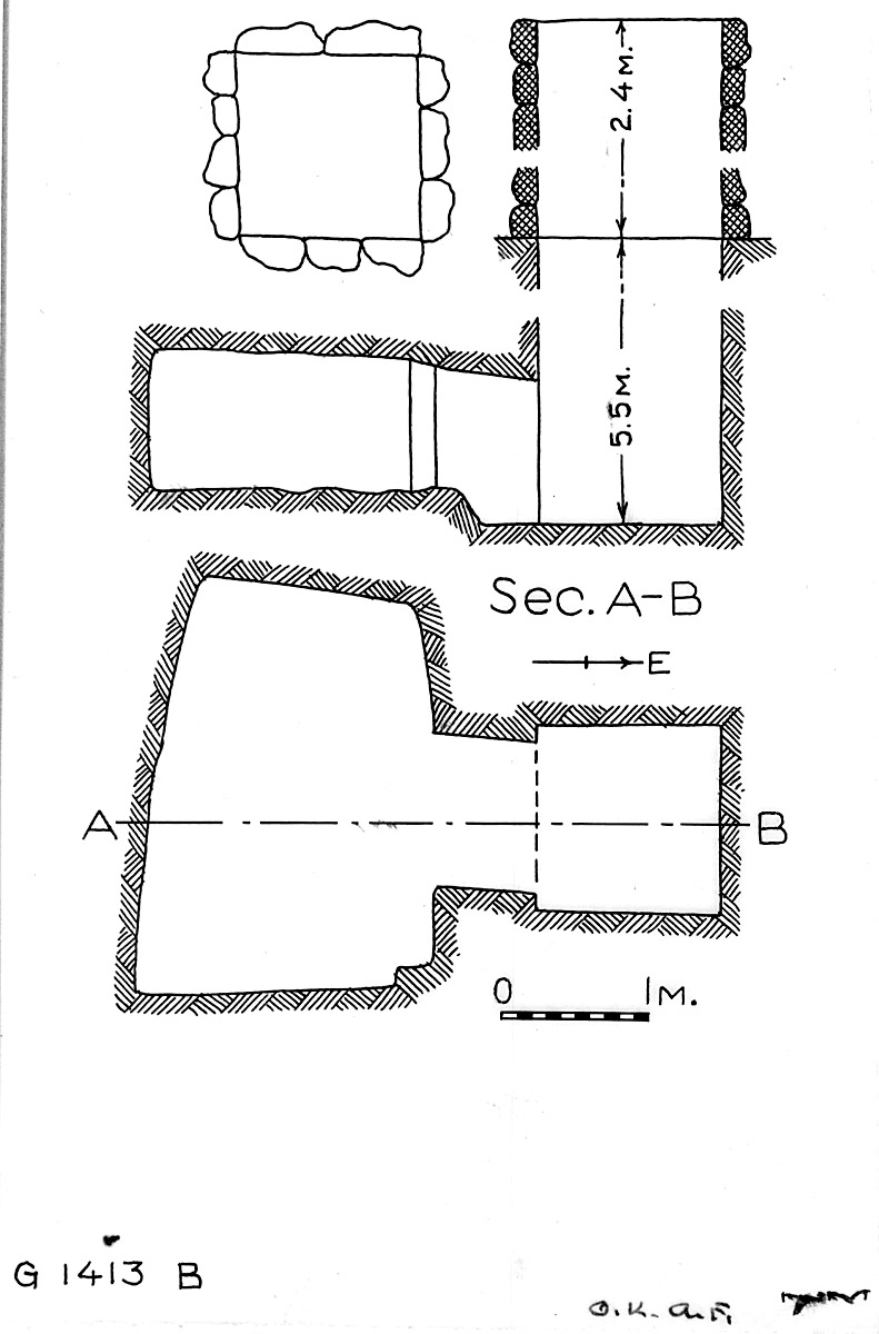 Maps and plans: G 1413, Shaft B