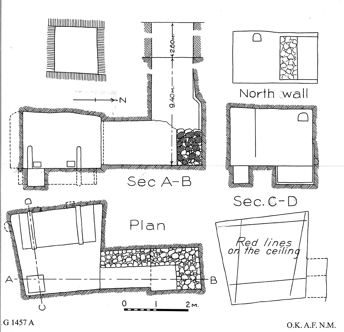 Maps and plans: G 1457, Shaft A