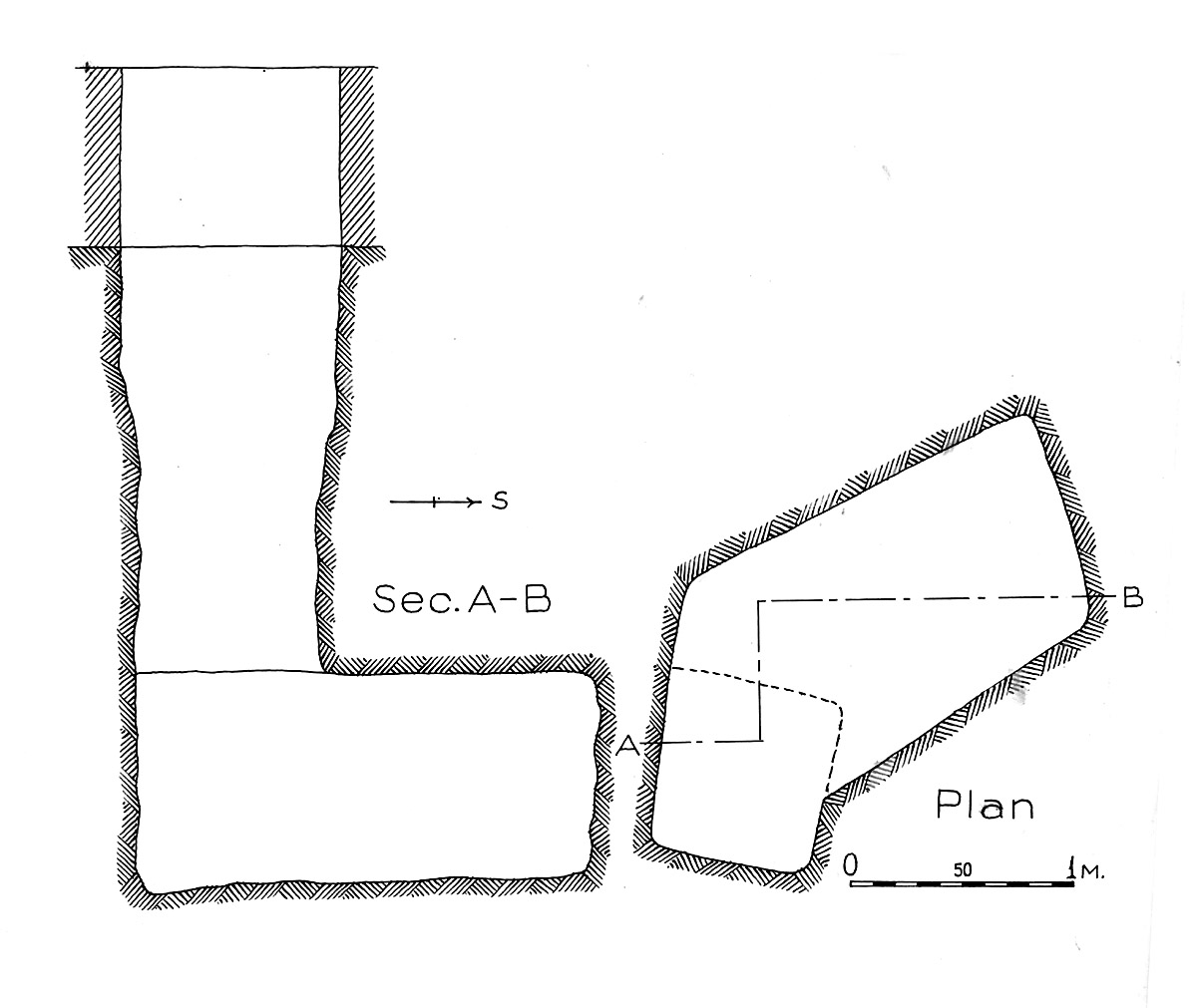 Maps and plans: G 1602, Shaft A