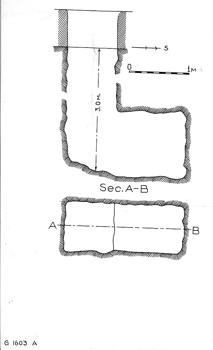 Maps and plans: G 1603, Shaft A