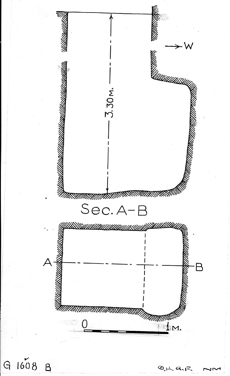 Maps and plans: G 1608, Shaft B