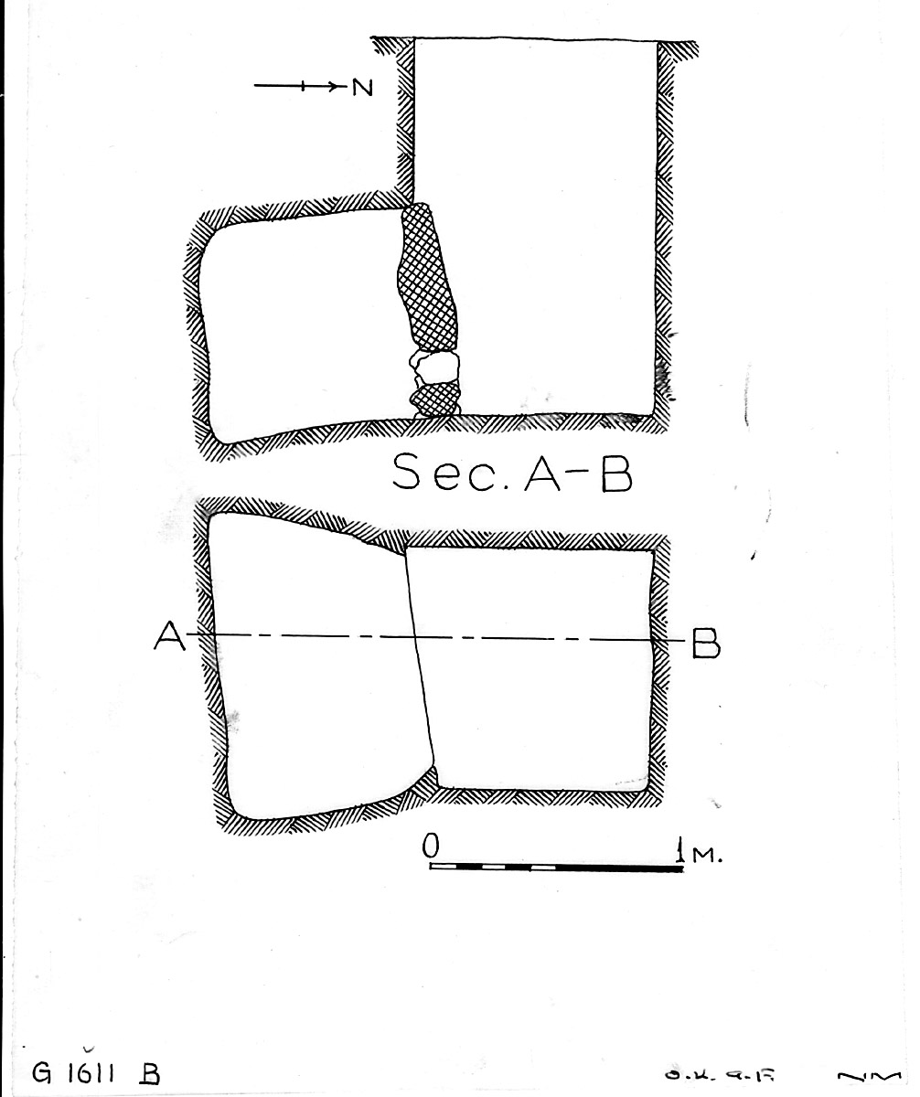Maps and plans: G 1611, Shaft B