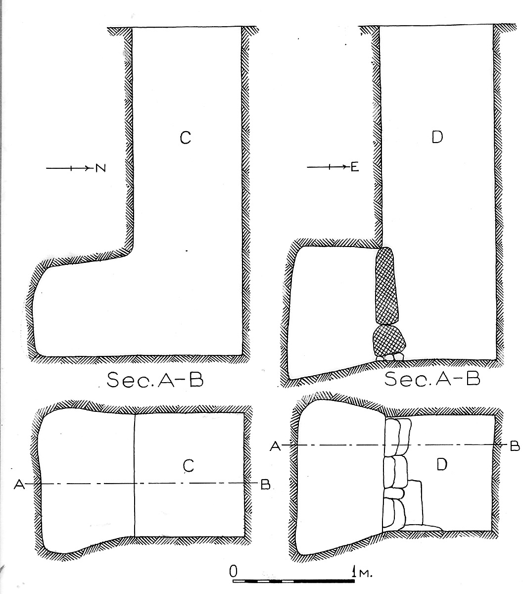 Maps and plans: G 1611, Shaft C and D
