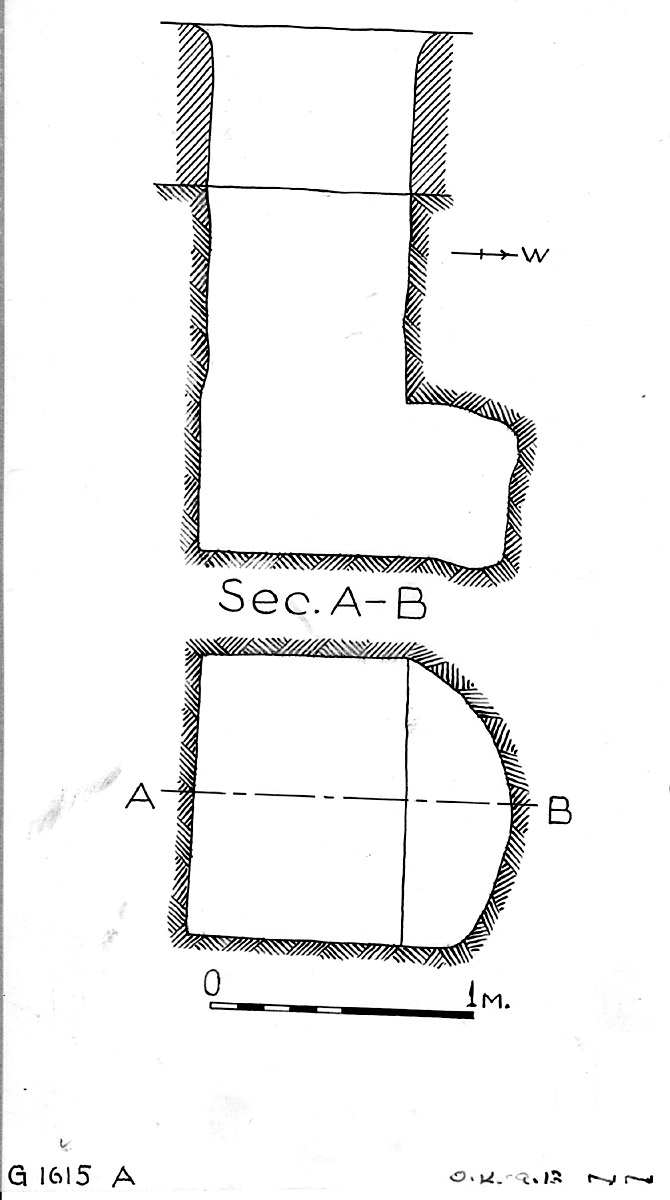 Maps and plans: G 1615b, Shaft A