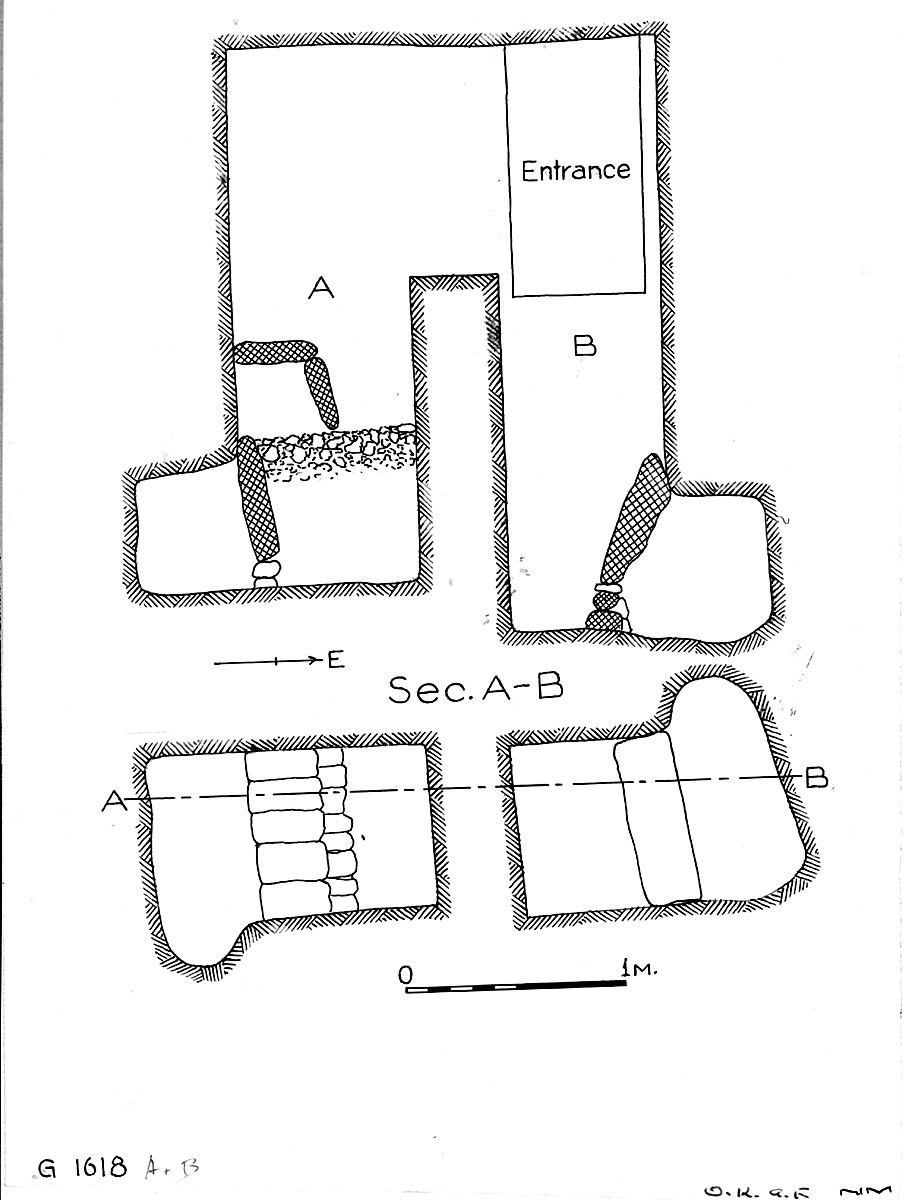 Maps and plans: G 1618, Shaft A and B