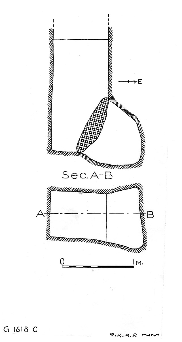 Maps and plans: G 1618, Shaft C