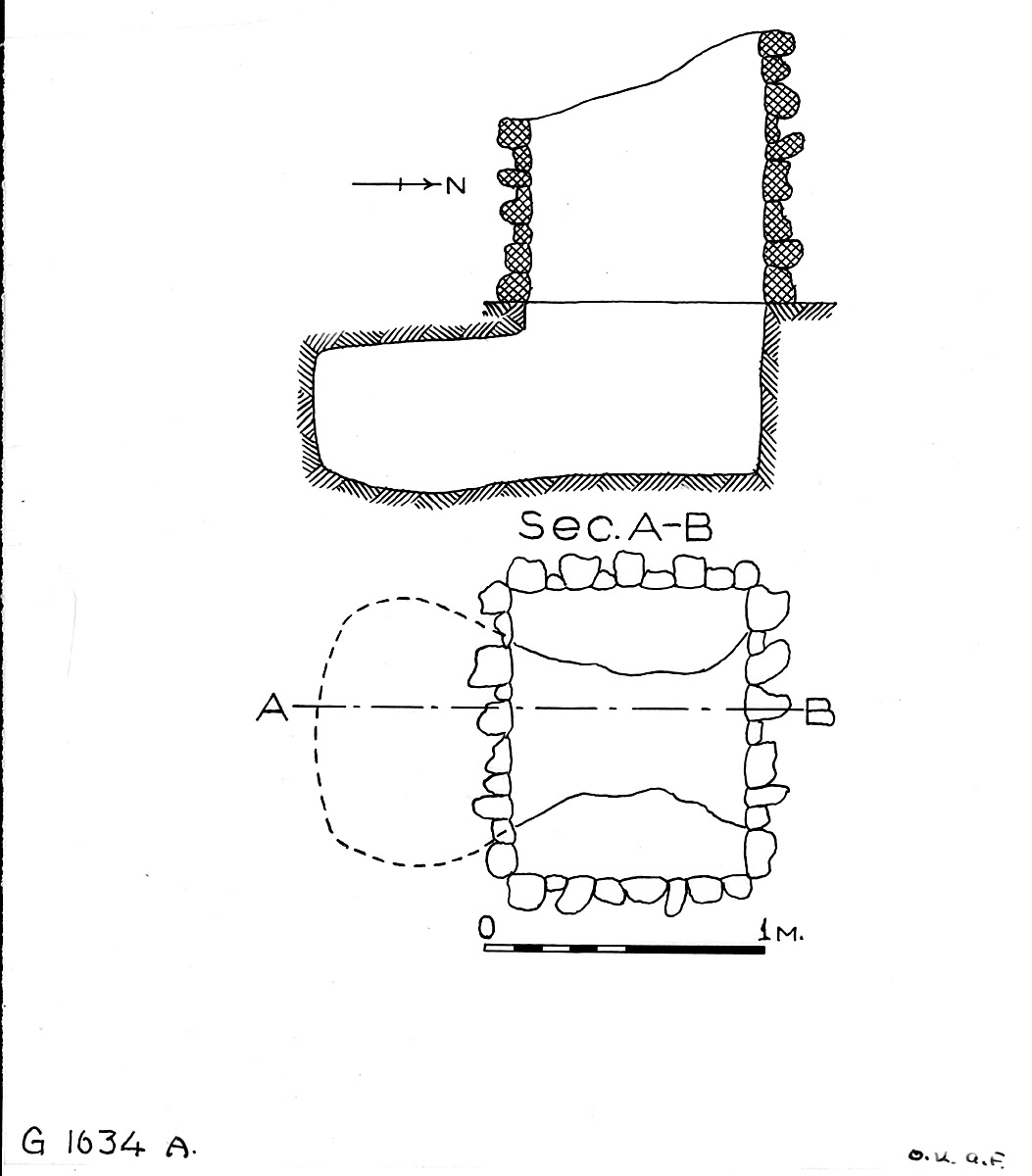 Maps and plans: G 1634, Shaft A