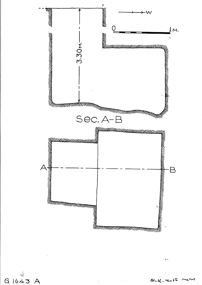 Maps and plans: G 1643, Shaft A