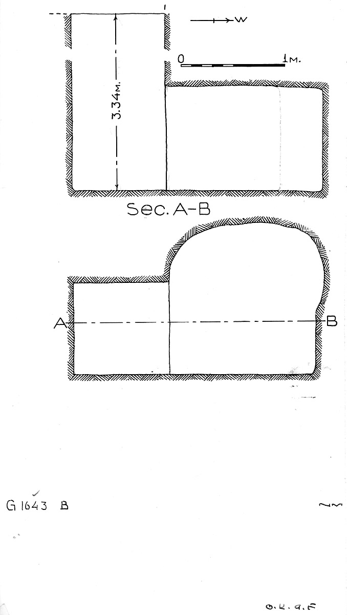 Maps and plans: G 1643, Shaft B