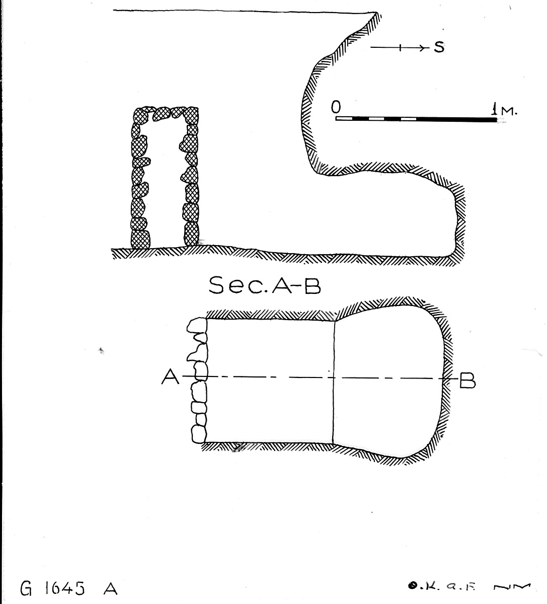 Maps and plans: G 1645, Shaft A