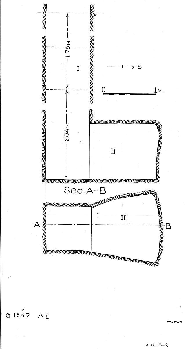 Maps and plans: G 1647, Shaft A (II)