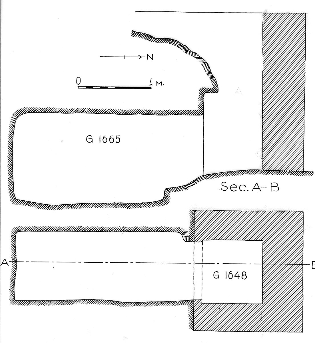 Maps and plans: G 1648+1665, Shaft A