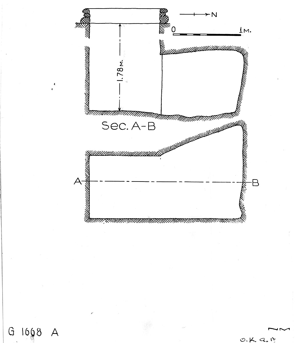 Maps and plans: G 1668, Shaft A
