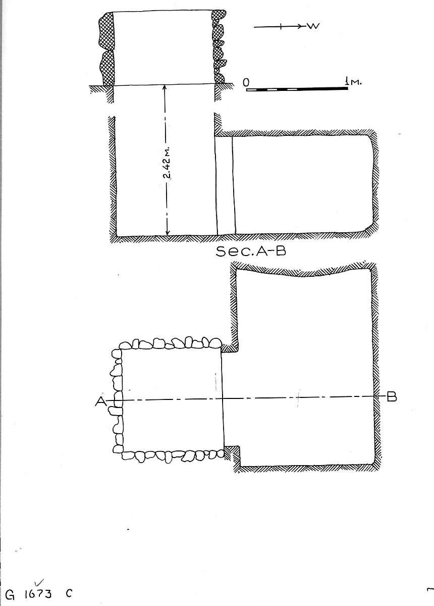 Maps and plans: G 1673, Shaft C