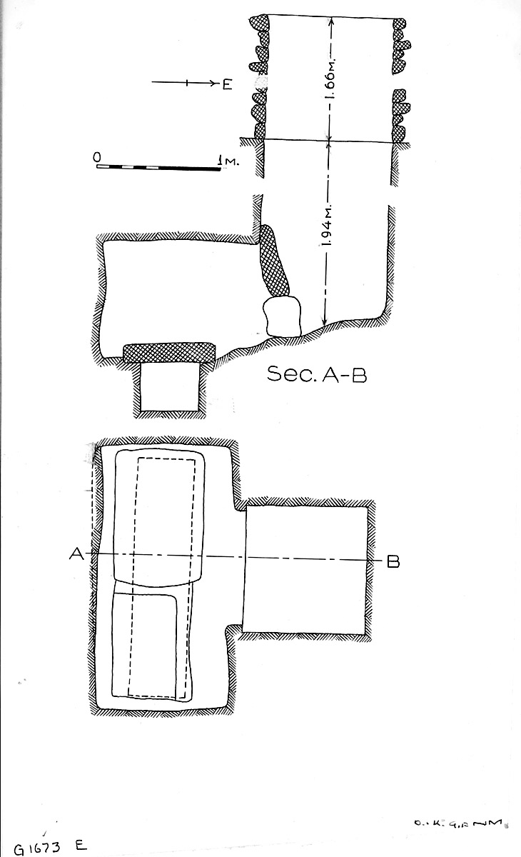 Maps and plans: G 1673, Shaft E