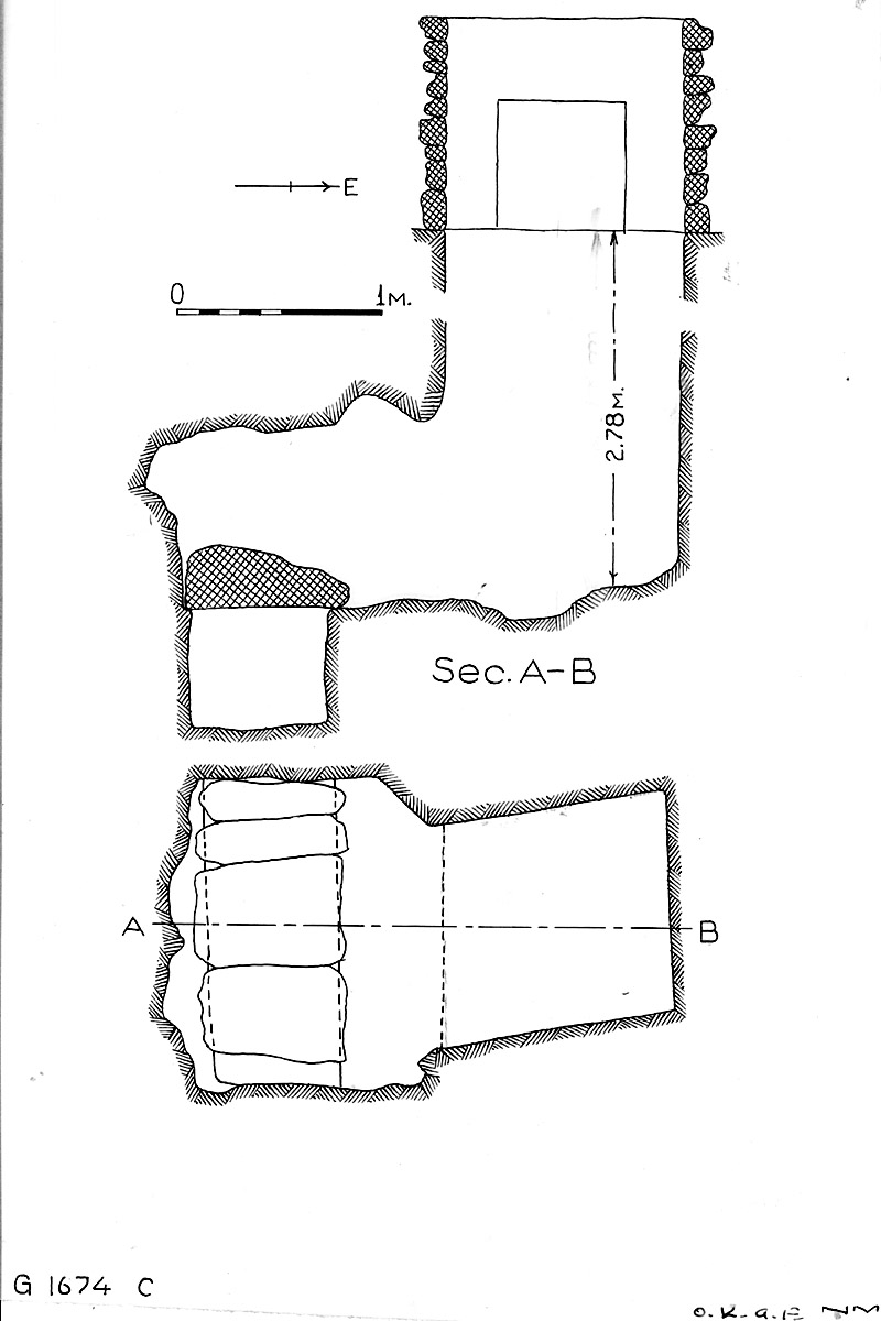 Maps and plans: G 1674, Shaft C