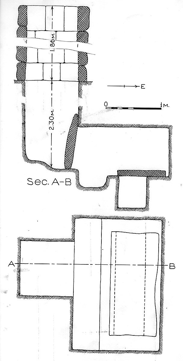 Maps and plans: G 1675, Shaft B