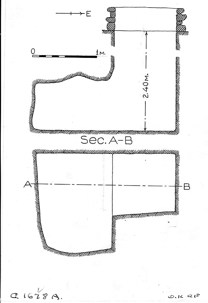 Maps and plans: G 1678, Shaft A