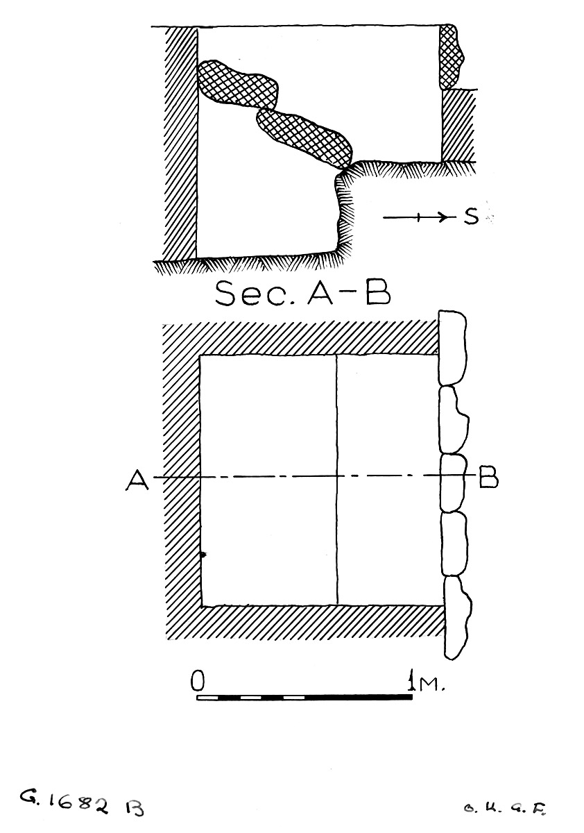 Maps and plans: G 1682, Shaft B