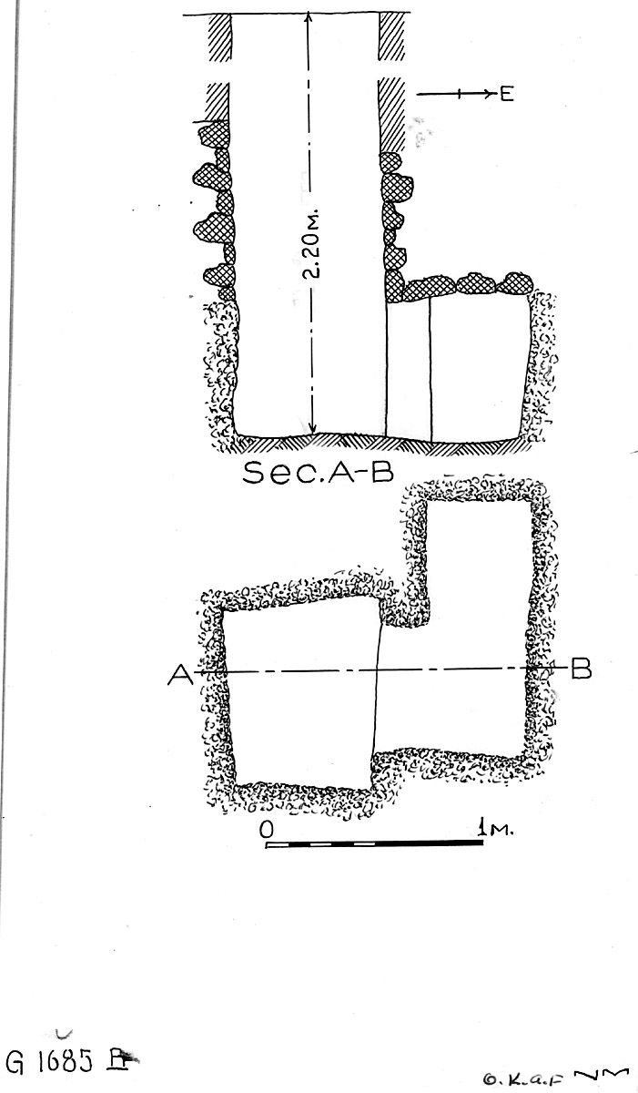 Maps and plans: G 1685, Shaft B