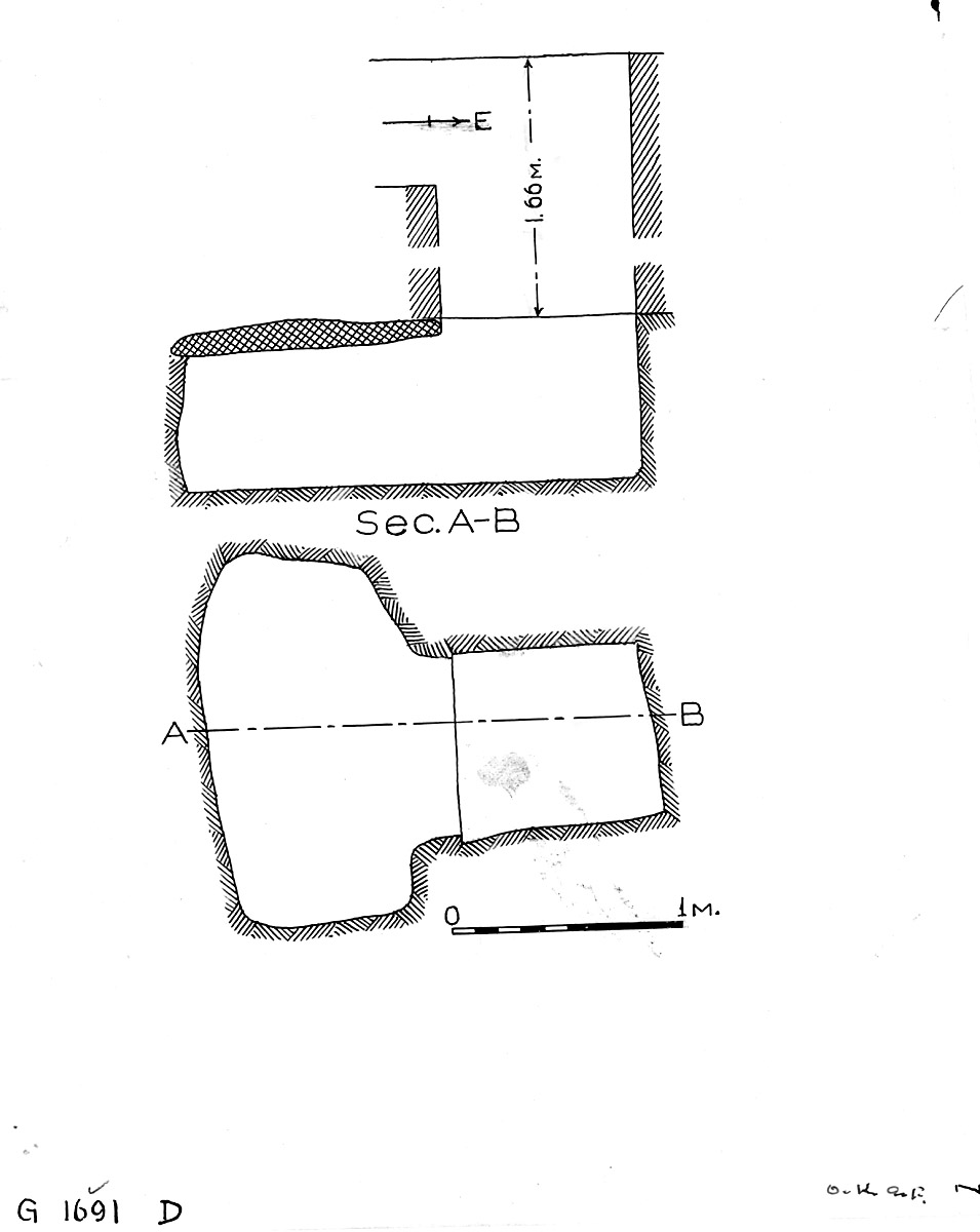 Maps and plans: G 1691, Shaft D