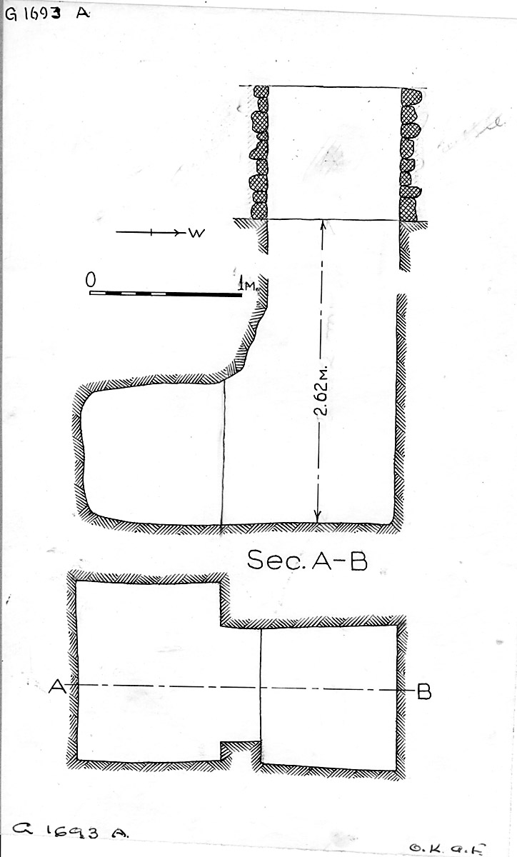 Maps and plans: G 1693, Shaft A