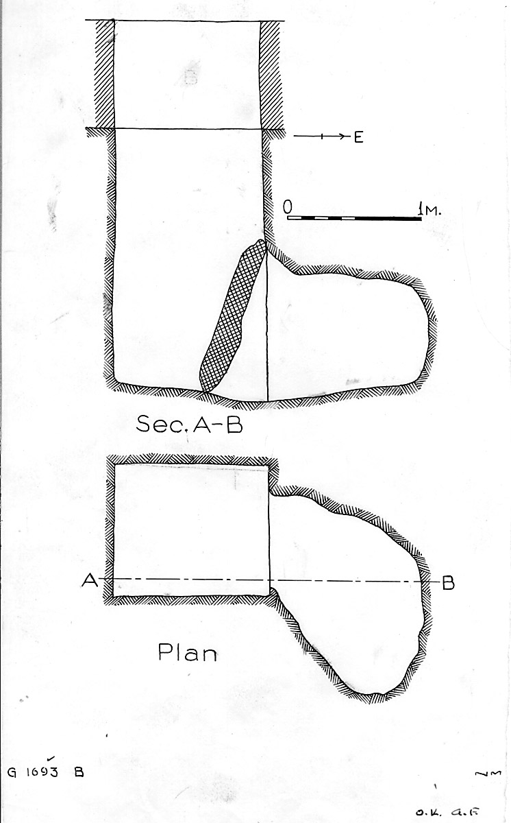 Maps and plans: G 1693, Shaft B