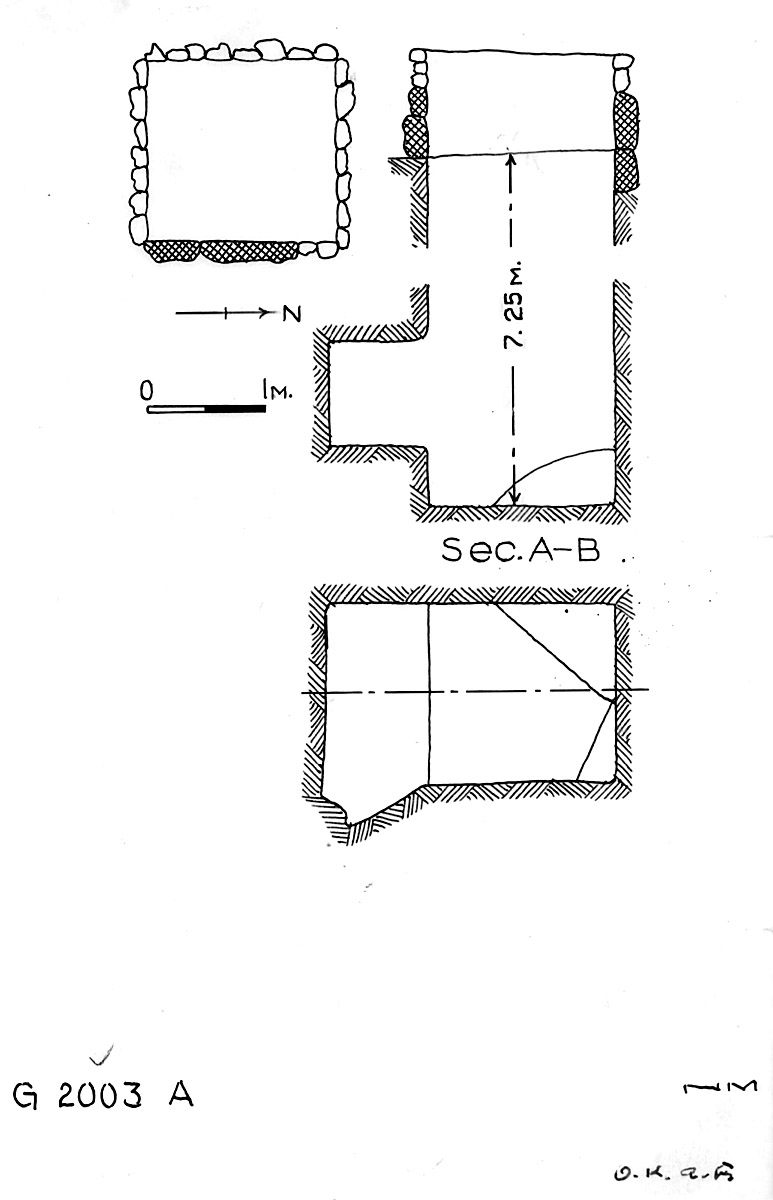 Maps and plans: G 2003, Shaft A