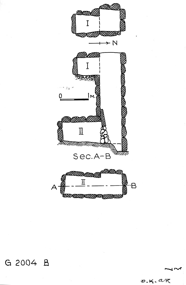 Maps and plans: G 2004, Shaft B