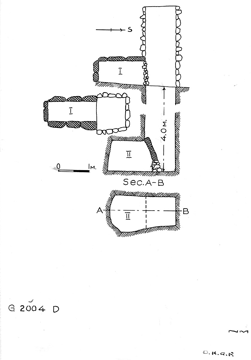Maps and plans: G 2004, Shaft D
