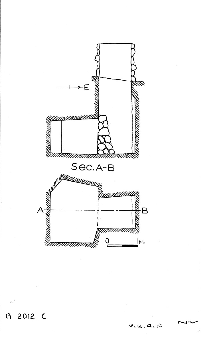 Maps and plans: G 2012, Shaft C
