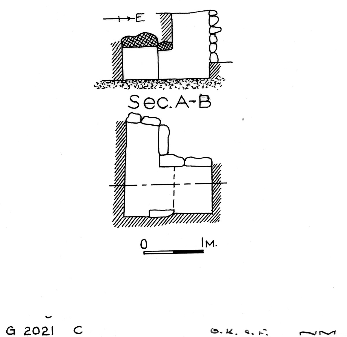 Maps and plans: G 2021c, Shaft C