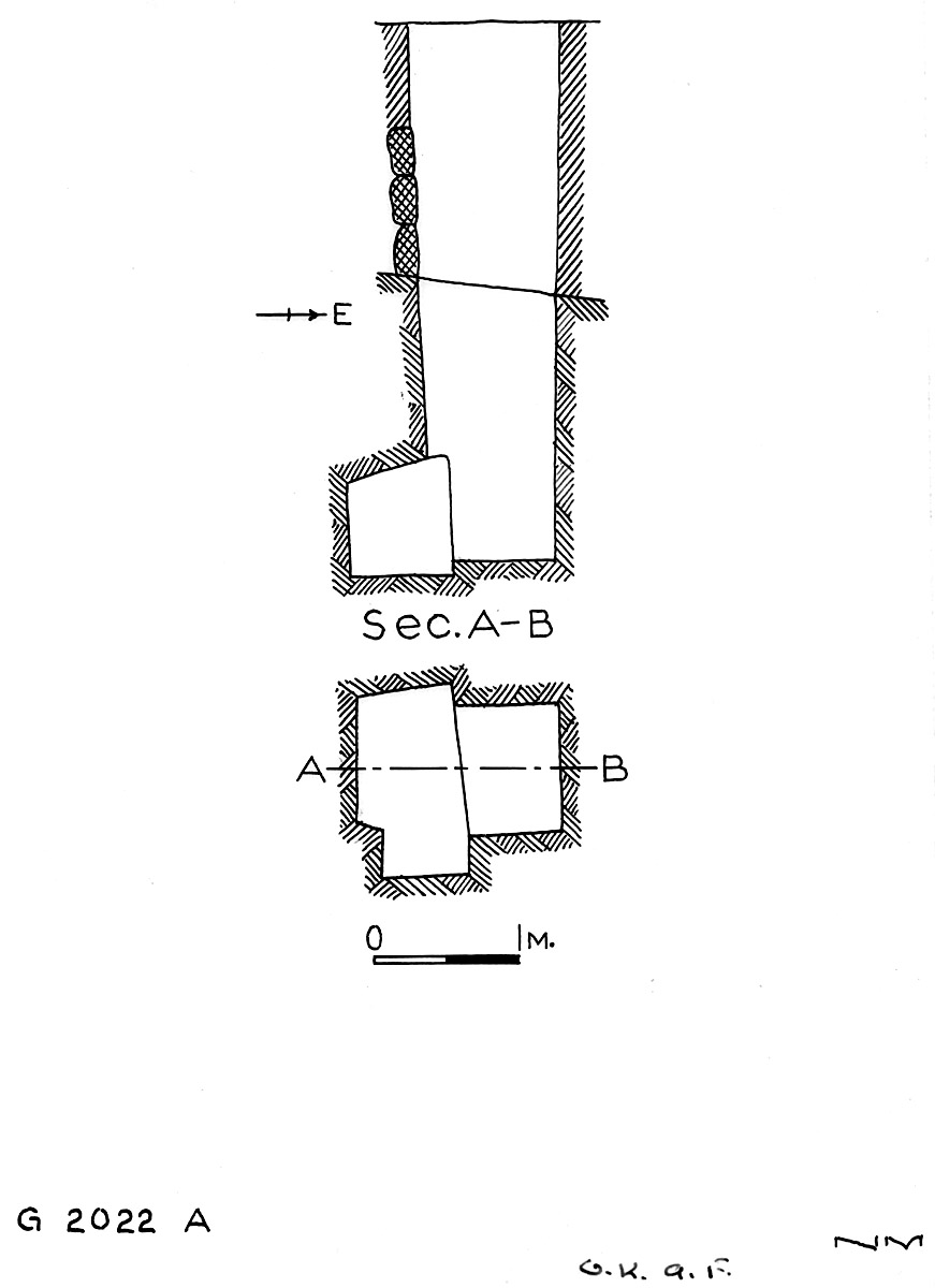 Maps and plans: G 2022, Shaft A