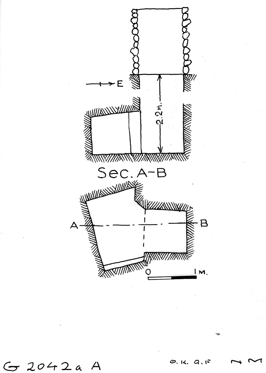 Maps and plans: G 2042a, Shaft A