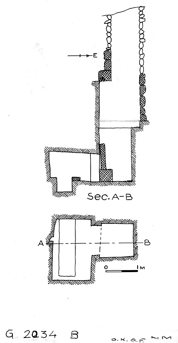 Maps and plans: G 2034, Shaft B