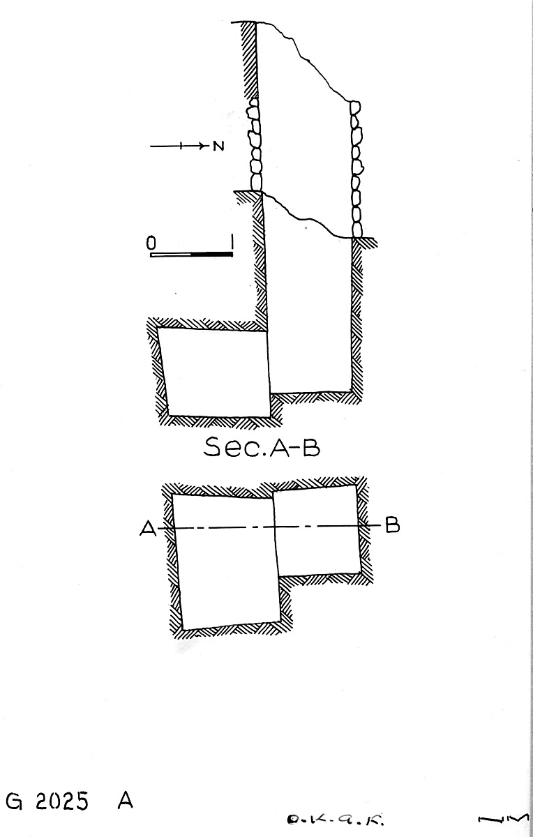 Maps and plans: G 2025, Shaft A